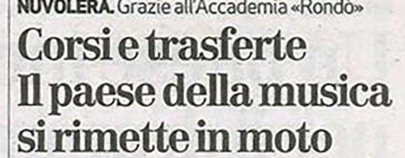 giornale di brescia articolo accademia rondò